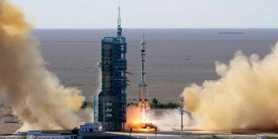 China sends three astronauts to space station core module (With Video)